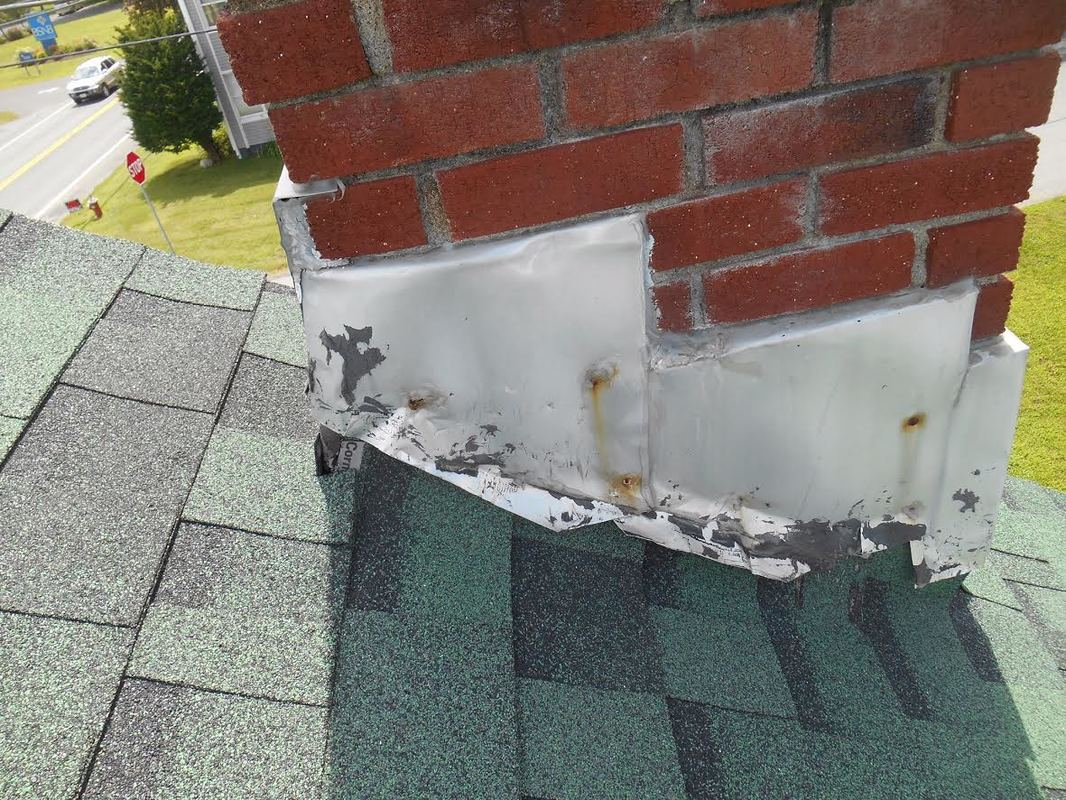 Flashing around Chimney needs Replacing Central VA Roofing Contractor