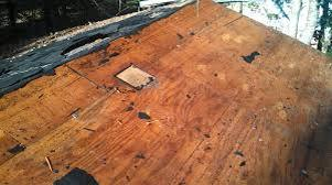 Bad Roof Decking Central VA Roofing Contractor